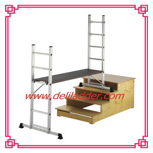 Aluminum Folding Ladder Scaffolding Ladder 2X6 (DLSL101) pictures & photos