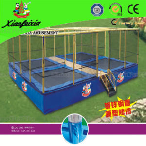 Children Square Outdoor Trampoline (LG035) pictures & photos