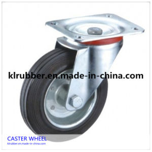 8-Inch European Style Heavy Duty Plate Swivel Rubber Caster pictures & photos
