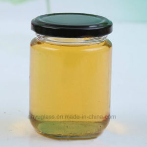 195ml 240ml Round Pickle Glass Jars, Glass Bottles for Honey, Food, Bee Honey
