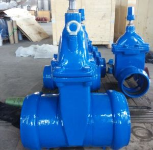 Socket End Non Rising Stem Resilient Soft Seated Gate Valve with Epoxy Coating