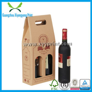 Good Price Custom Wine Bottle Paper Gift Box with PP Handle pictures & photos