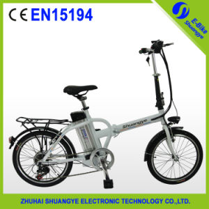 Shuangye Green Power Litnium Battery Folding Electric Bike pictures & photos