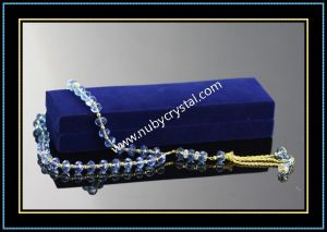 33PCS Machine Cut Blue Crystal Glass Rosary (k8) pictures & photos
