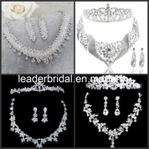 Bridal Accessories Jewellery Crystals Wedding Necklace Earings Crown Tiara Sv1021 pictures & photos