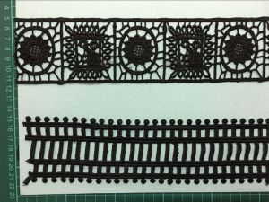 Black Color High Quality Polyester Lace Trimming 0017 pictures & photos