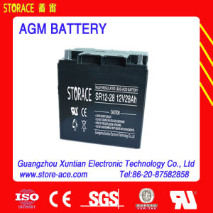 12V 28ah AGM Sealed Lead Acid Battery pictures & photos