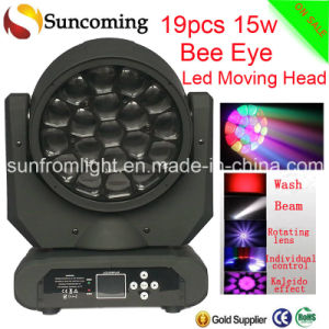 19PCS X 15W New Version LED Moving Head Light Big Eye Beam Wash Effect pictures & photos