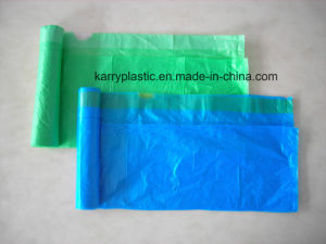 Drawstring Bin Liner Trash Bags on Roll pictures & photos
