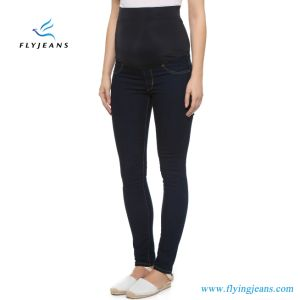 Customized Cotton Stretch Skinny Denim Jeans for Maternity Women pictures & photos