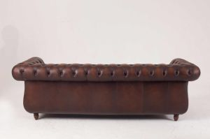 Top Quality Brown Color Vintage Chesterfield Sofa pictures & photos