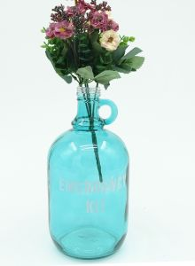 Blue Rural Glass Jars Vase Shabby Style Glass Vase pictures & photos