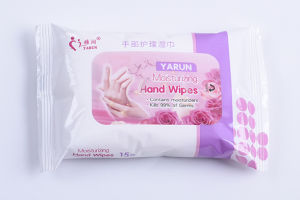 Rose Fragrance 15PCS Wet Wipes for Hand Care pictures & photos