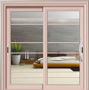 2 Panels Aluminium Sliding Door in Dining Room pictures & photos