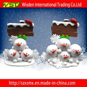 fashion Tablet Snowman Decoration Christmas Ornament with Wordpad