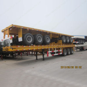 2016 Factory Price Tri-Axle Leaf Spring 60ton 40FT Container Semi Trailer pictures & photos