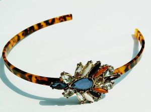 Arylic Leopard Crystal Decoration Headband pictures & photos