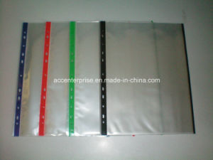 A4 11 Holes Clear Plastic PVC Sheet Protectors with Special Cover for Ring Binder pictures & photos