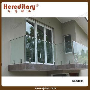 Frameless Glass Stainless Steel Railing Fitting for Balcony (SJ-S1008) pictures & photos