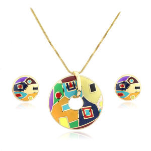 Fine Jewelry 925 Sterling Silver Color Polish Enamel Jewelry Set pictures & photos