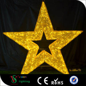 Custom Commercial Christmas Large Hanging Star Lights for Shopping Mall Decoration pictures & photos