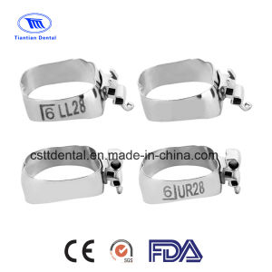 Suit Box Type of Orthodontic MBT Molar Bands (Triple Tubes)
