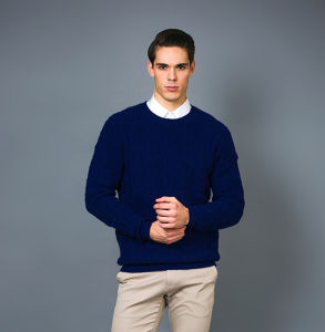 Men′s Fashion Cashmere Blend Sweater 17brpv129 pictures & photos