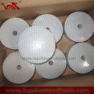 White Color Diamond Polishing Pads pictures & photos
