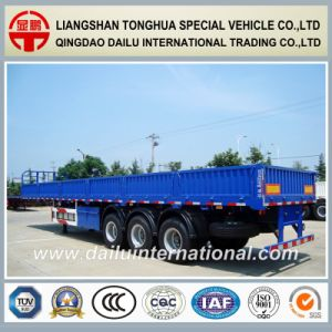 3 Axles Bulk Cargo Transport Sidewall Semi Trailer on Promotion pictures & photos