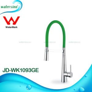 Watermark Swan Neck Kitchen Sink Mixer Faucet Tap with Assorted Colors pictures & photos