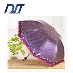 High Grade Black Plastic Umbrella Creative Lace Umbrella Promotion Gift pictures & photos