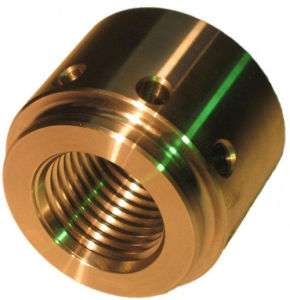Screw Fitting Copper CNC Milling Part pictures & photos