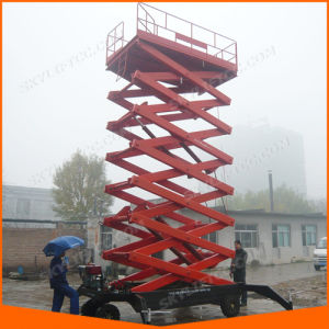 16m Hydraulic Electric Scissor Man Lift Platform for Building Maintenance with Ce pictures & photos