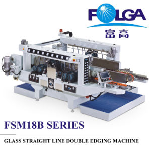 Glass Straight Line Double Edging Machine (FA-2518) pictures & photos