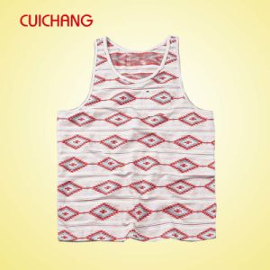 Wholesale Polyester Heat Transfer Printing Custom Design Sports Wear Women Gym Singlet Bx-030