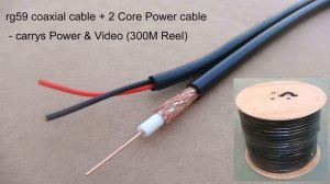 Rg59+Power /RG6 +Power Combo Cable /Coaxial Cable