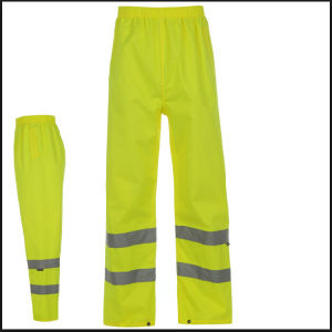 Classic Reflective Tape Yellow Hi-Vis Safety Pants pictures & photos