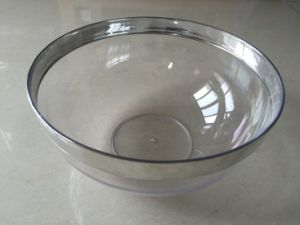 "8"" Plastic Round Salad Bowl with Aluminium Edge (SRB80)"