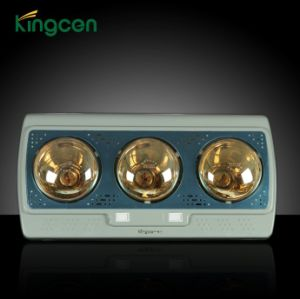 Three Gold Bulb Wall -Mounted Bathroom Heater (KC15802BG)
