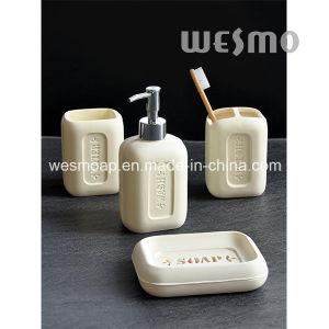 Soap Shape Polyresin Bathroom Set (WBP0935A) pictures & photos