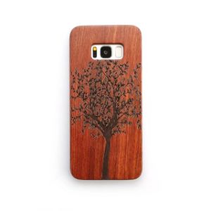 Engraved Wood Plate PC Phone Case for Samsung Galaxy S8 S8 Plus pictures & photos