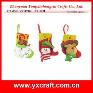 Christmas Decoration (ZY14Y422-1-2-3) Christmas Sock Promotion pictures & photos
