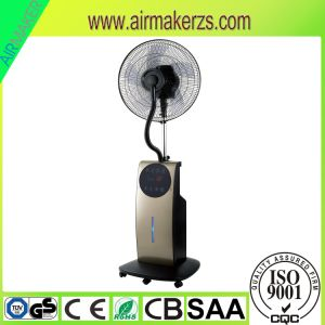"Household Use 16"" AC 220V Stand Fan with Water Spraying pictures & photos"