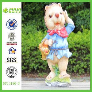 Garden Standing Figurine Resin Decorative Hedgehog (NF14186-3)
