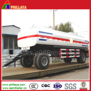 Two Axles Full Type Towing Bar Fuel Tanker Semi Trailer pictures & photos