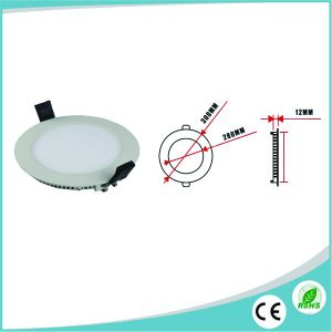 9W Ultra Slim Round LED Panel for Shop lighting pictures & photos