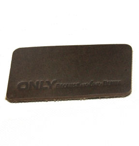 ODM/OEM Leather label Patch with Loe Price pictures & photos