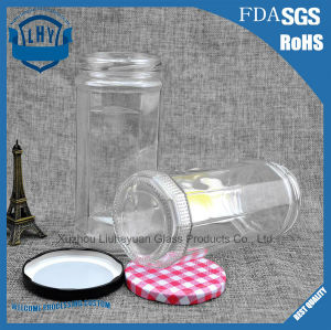 690 Ml Food Grade Transparent, Cylindrical, Wide Mouth Coffee Cans Storage Glass Jar