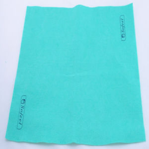 Synthetic Nonwoven Fabric Cloth, Needle Punched Cleaning Cloth pictures & photos