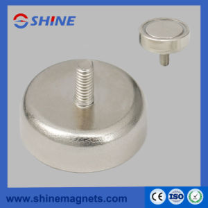 Nickle Plated NdFeB Pot Magnet with Threaded Rod pictures & photos